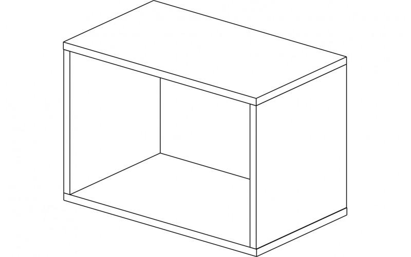 Корпус шкаф кухонный для вытяжки Газовка 50 см.
