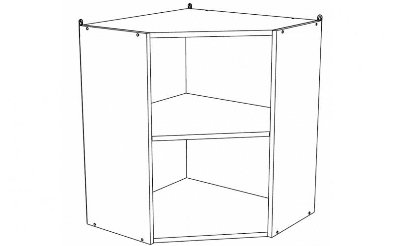 Корпус Шкаф кухонный угловой навесной ШВУ 590 (Ф-20, Ф-25)