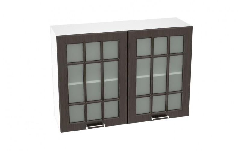 """Шкаф верхний витрина """"Прага"""" ШВС 1000 (В 1000, Ф-75)"""