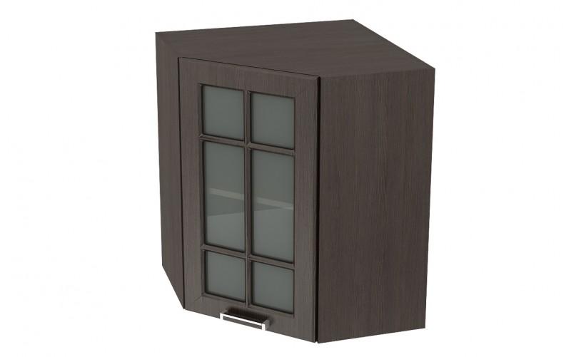 """Шкаф верхний угловой витрина """"Прага"""" ШВУС 590 (ВУ 590, Ф-25)"""