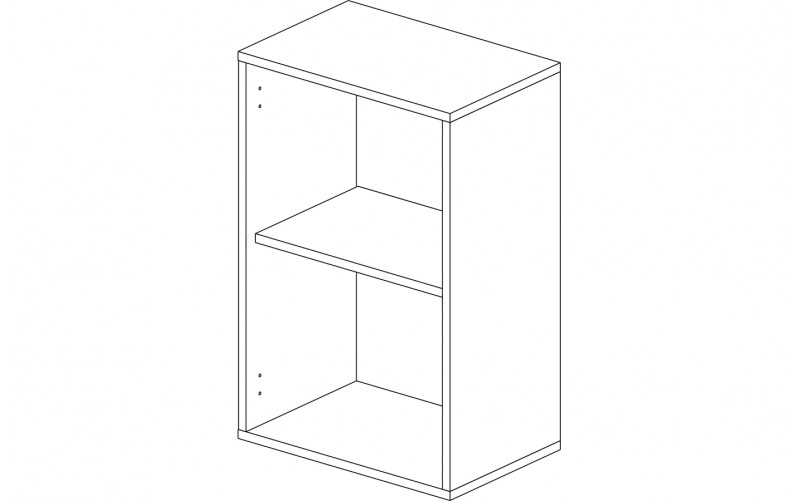 Корпус шкаф кухонный навесной 45 см.