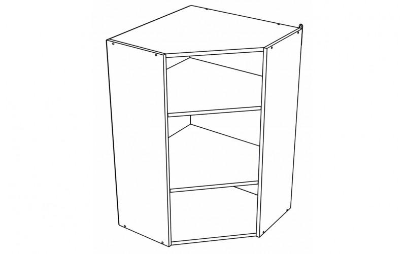 Корпус Шкаф кухонный угловой навесной ШВУ 599 (Ф-20Н, Ф-25Н)