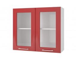 """Шкаф верхний витрина """"Люкс"""" 80 см."""