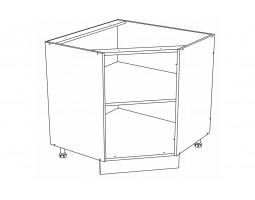 Корпус Кухонный рабочий угловой стол ШНУ 890 (Ф-60)