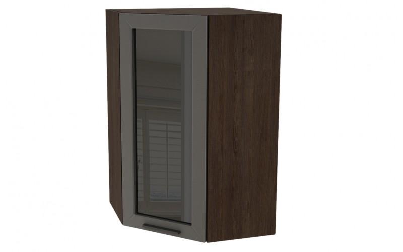 "Шкаф верхний угловой витрина ""Глетчер"" ШВУС 599* (ВУ 599, Ф-25Н)"