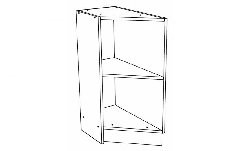 Корпус Кухонный рабочий торцевой стол правый ШНТ 300 L (Ф-20)