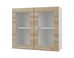 """Шкаф верхний витрина """"Полонез"""" 80 см."""