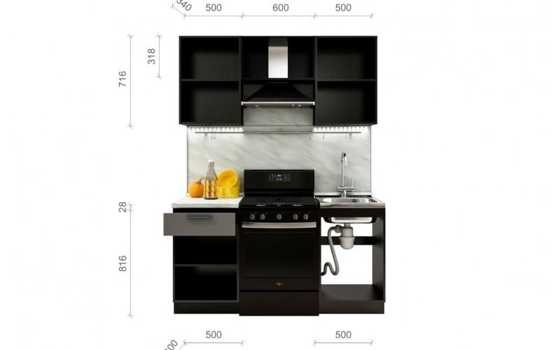 "Кухонный гарнитур ""Глетчер"" Комплектация 1.3 1600 мм."