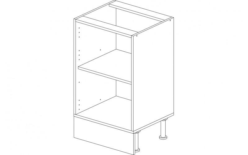 Корпус кухонный рабочий стол / мойка 50 см.