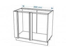Корпус Кухонный рабочий угловой стол ШНУ 990 М (Ф-96)