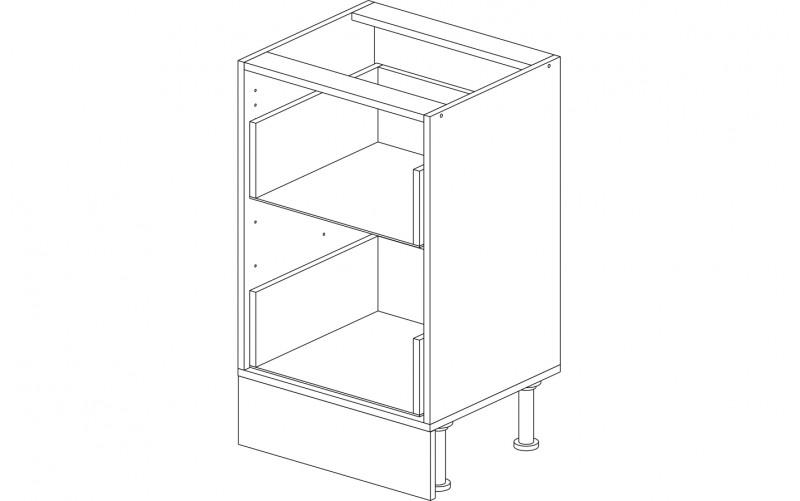 Корпус кухонный рабочий стол 50 см. с 2-мя ящиками