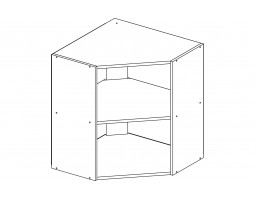 Корпус шкаф кухонный навесной угловой 60 см.