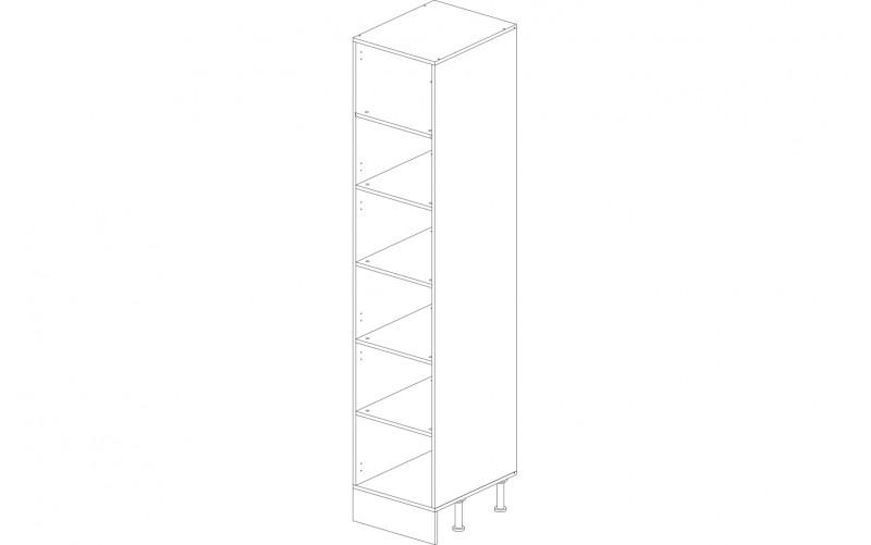 Корпус шкаф-пенал кухонный 45 см.