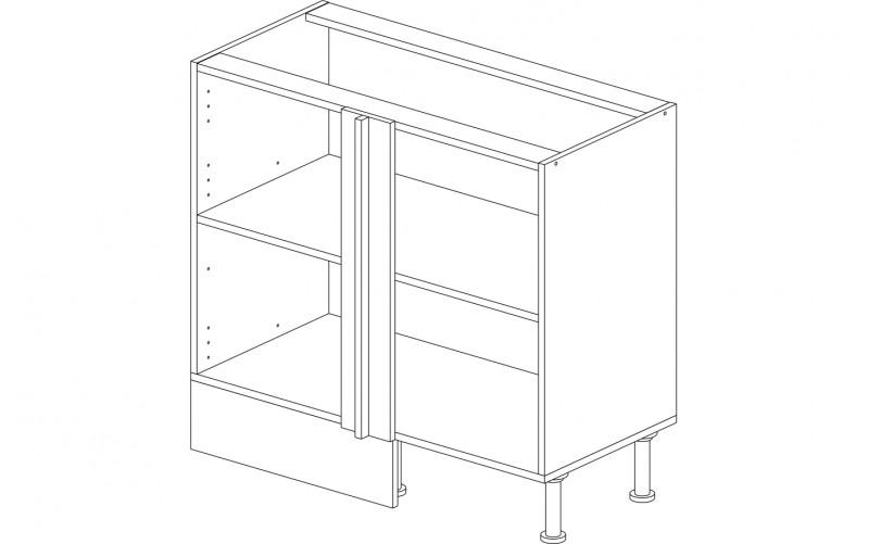 Корпус стол рабочий угловой 100 см.