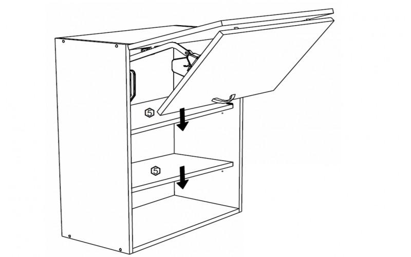 Корпус Шкаф верхний под вытяжку ШВГ 602 (Ф-85КН)
