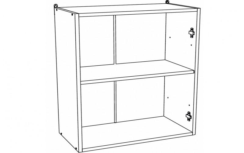 Корпус Шкаф кухонный навесной ШВ 800 (Ф-50, Ф-55)