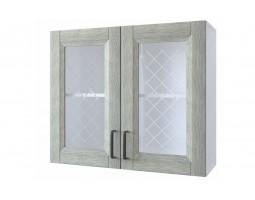 """Шкаф верхний витрина """"Винтаж"""" 80 см."""
