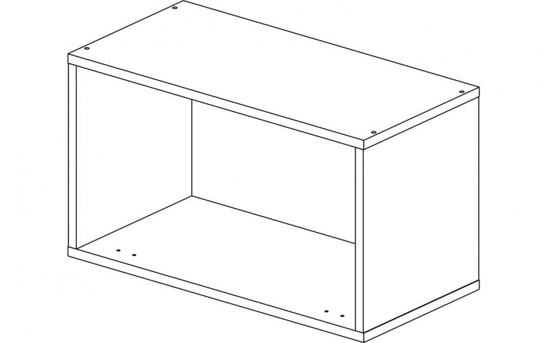 Корпус шкаф кухонный для вытяжки Газовка 60 см.