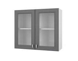 """Шкаф верхний витрина """"Ева"""" 80 см."""