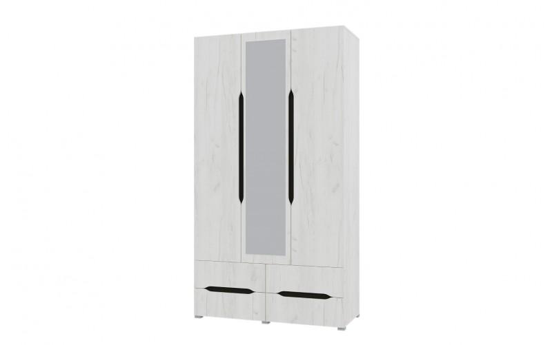 """Шкаф 3-х створчатый """"Вега ШК 3/ящ"""" с ящиками и зеркалом"""