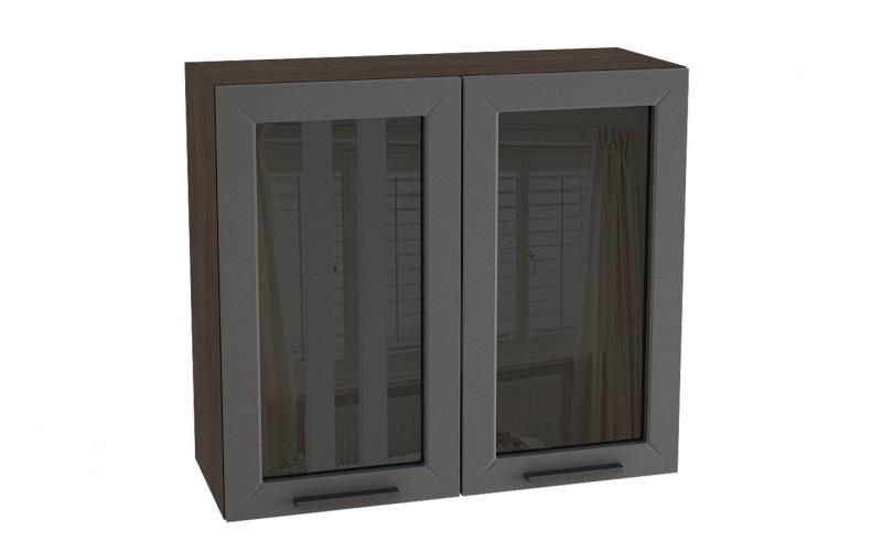 "Шкаф верхний витрина ""Глетчер"" ШВС 800 (В 800, Ф-55)"