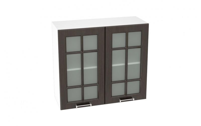 """Шкаф верхний витрина """"Прага"""" ШВС 800 (В 800, Ф-55)"""
