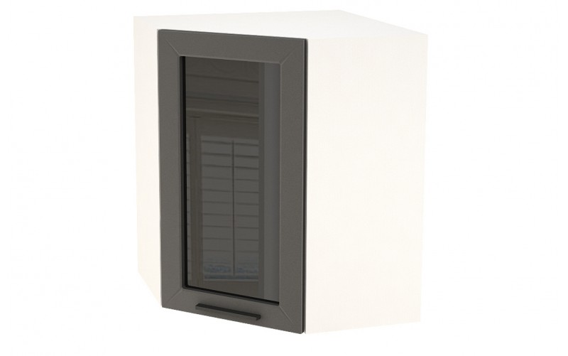 "Шкаф верхний угловой витрина ""Глетчер"" ШВУС 590 (ВУ 590, Ф-25)"