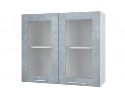 """Шкаф верхний витрина """"Лофт"""" 80 см."""