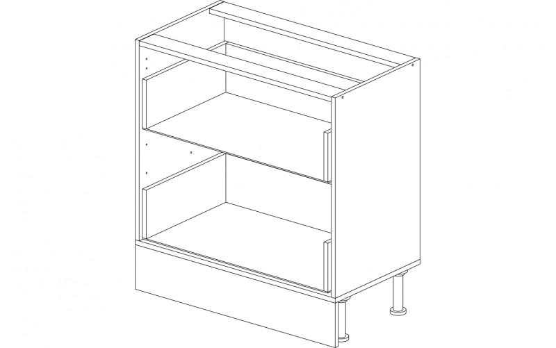 Корпус кухонный рабочий стол 80 см. с 2-мя ящиками