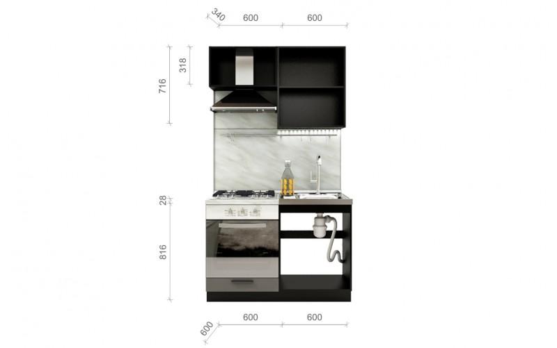 "Кухонный гарнитур ""Глетчер"" Комплектация 1.1 1200 мм."