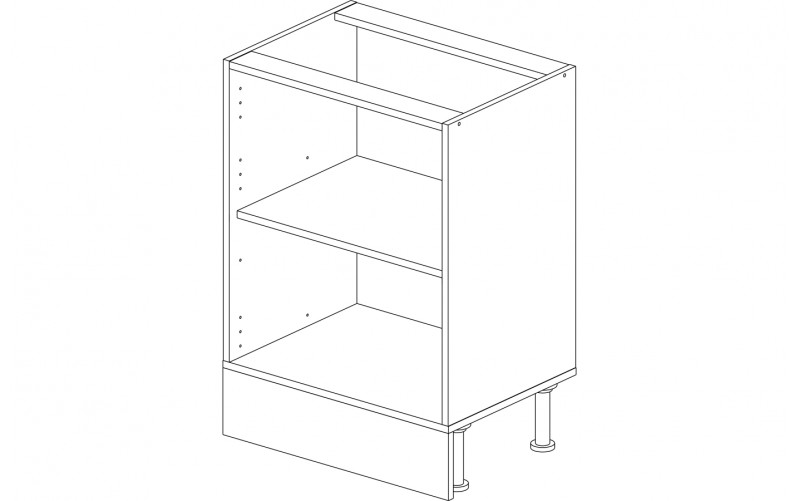 Корпус кухонный рабочий стол / мойка 60 см.